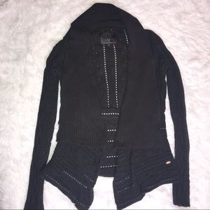 Guess Knit Black Cardigan Duster